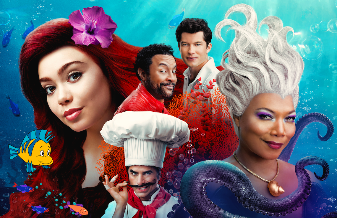Auliʻi Cravalho, Shaggy, Graham Phillips, Queen Latifah, and John Stamos star in The Little Mermaid Live! (ABC)