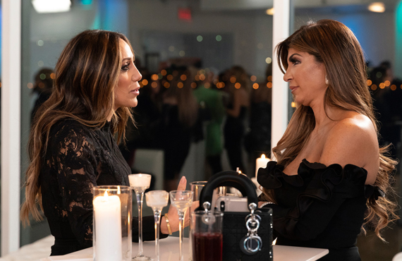 Melissa Gorga and Teresa Giudice in Real Housewives of New Jersey. (Bravo)
