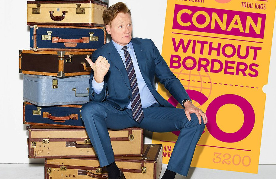 Conan O'Brien in a promotional image for Conan Without Borders: Ghana. (TBS)