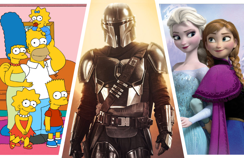 Among the many franchises at its disposal, Disney+ boasts The Simpsons, Star Wars and Frozen.