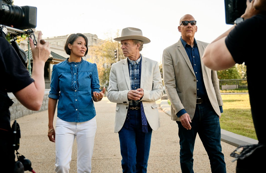 Alex Wagner,  Mark McKinnon, and John Heilemann in The Circus: Inside the Wildest Political Show on Earth. (Photo: T.J. Kirkpatrick/SHOWTIME)