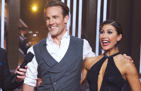 James Van Der Beek and Emma Slater on Dancing with the Stars. (ABC)