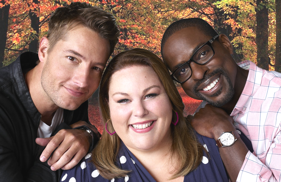 Justin Hartley, Chrissy Metz and Sterling K. Brown in This Is Us. (NBC)