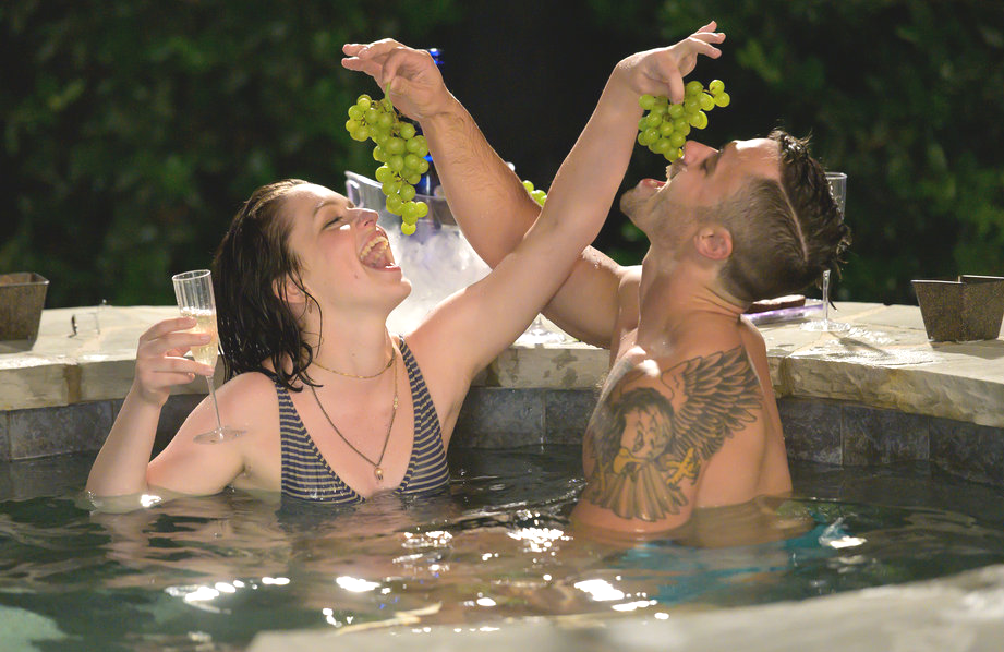 Of course hot tubs figure prominently in Bravo's revived Blind Date, premiering Monday night. (Photo: Boris Martin/Bravo)