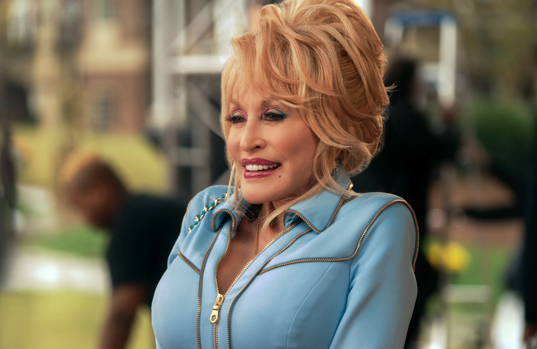 Dolly Parton plays a role in some, but not all, of the episodes of Dolly Parton's Heartstrings. (Netflix)