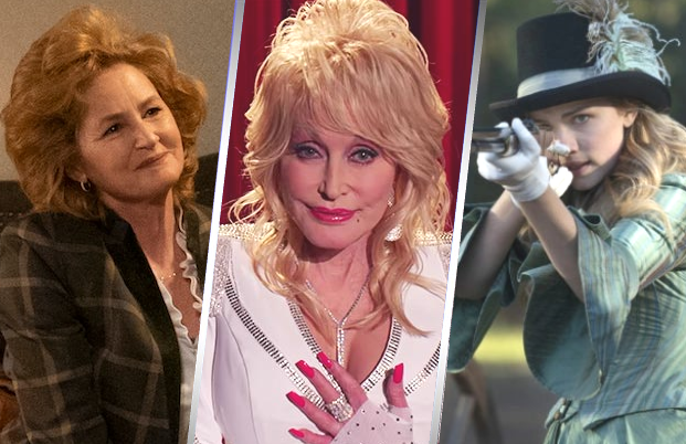 Melissa Leo, Dolly Parton and Ginnifer Goodwin all have roles in Dolly Parton's Heartstrings. (Netflix)
