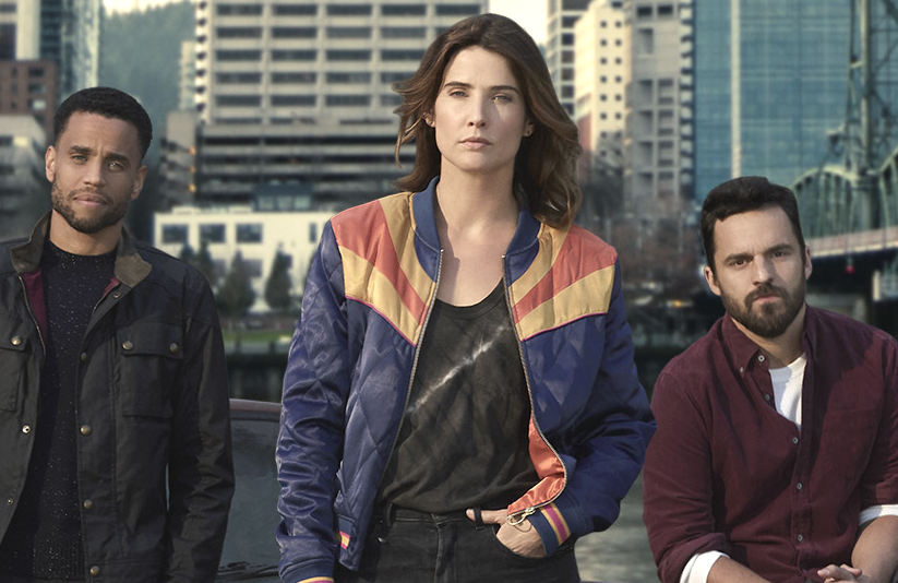 Michael Ealy, Cobie Smulders and Jake Johnson in Stumptown (ABC)