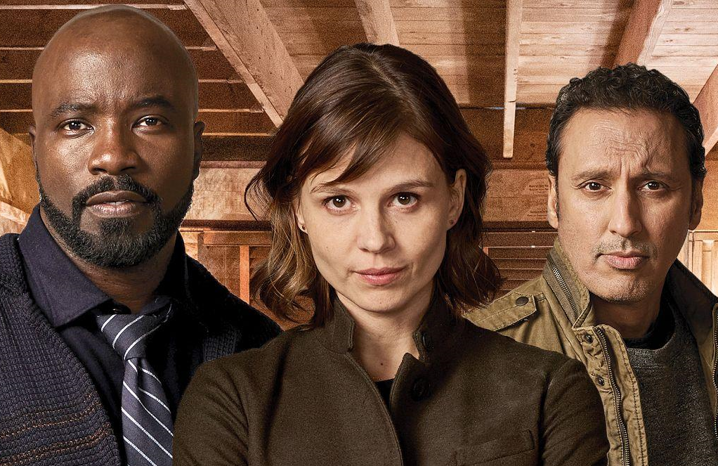 Mike Colter, Katja Herbers and Aasif Mandvi in Evil. (CBS)