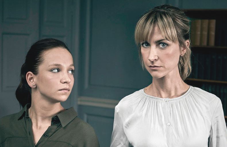 Molly Windsor and Katherine Kelly play two academics trying to get inside each other's heads in the killer thriller Cheat. (Sundance Now/ITV)