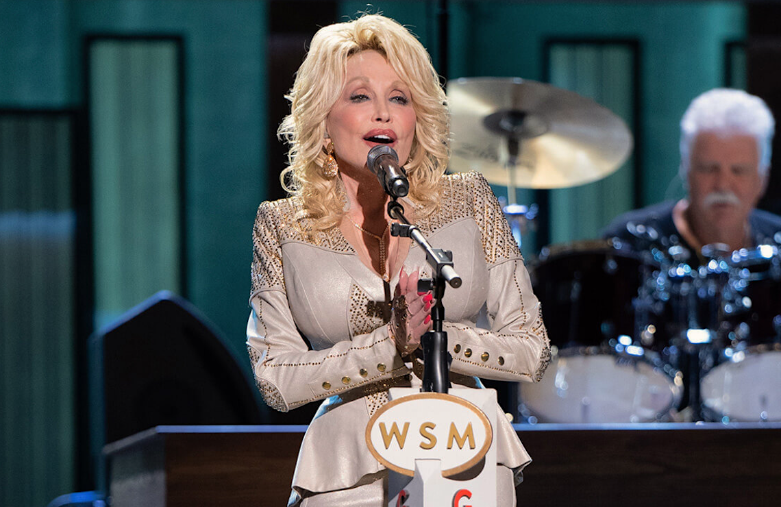 Dolly Parton performs on Dolly Parton: 50 Years at the Grand Ole Opry. (Photo: Katherine Bomboy/NBC)