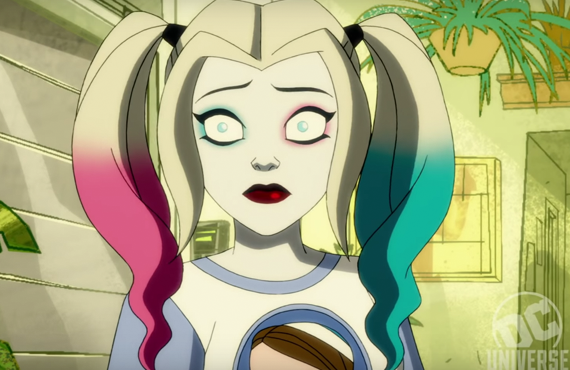 Kelly Cuoco voices Harley Quinn in the new DC Universe series, but she's far from the first in inhabit the role. (DC Universe)