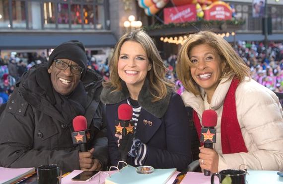 Al Roker, Savannah Guthrie and Hoda Kotb host NBC's coverage of The Macy's Thanksgiving Day Parade (Photo: NBC)