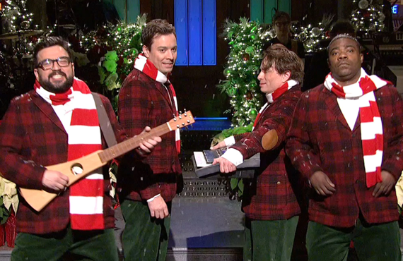 Horatio Sanz, Jimmy Fallon, Chris Kattan and Tracy Morgan on Saturday Night Live. (NBC)