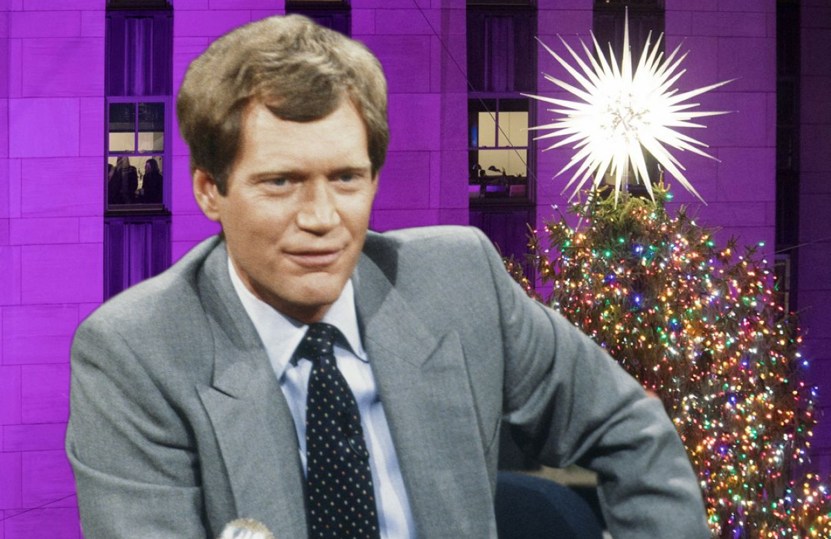 The Rockefeller Center Christmas Tree was the perfect foil for classic Dave.