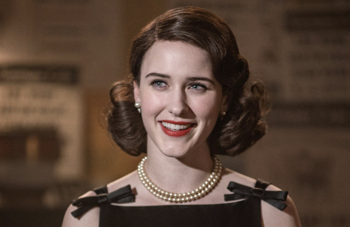 Rachel Brosnahan as Midge Maisel in The Marvelous Mrs. Maisel. (Amazon)