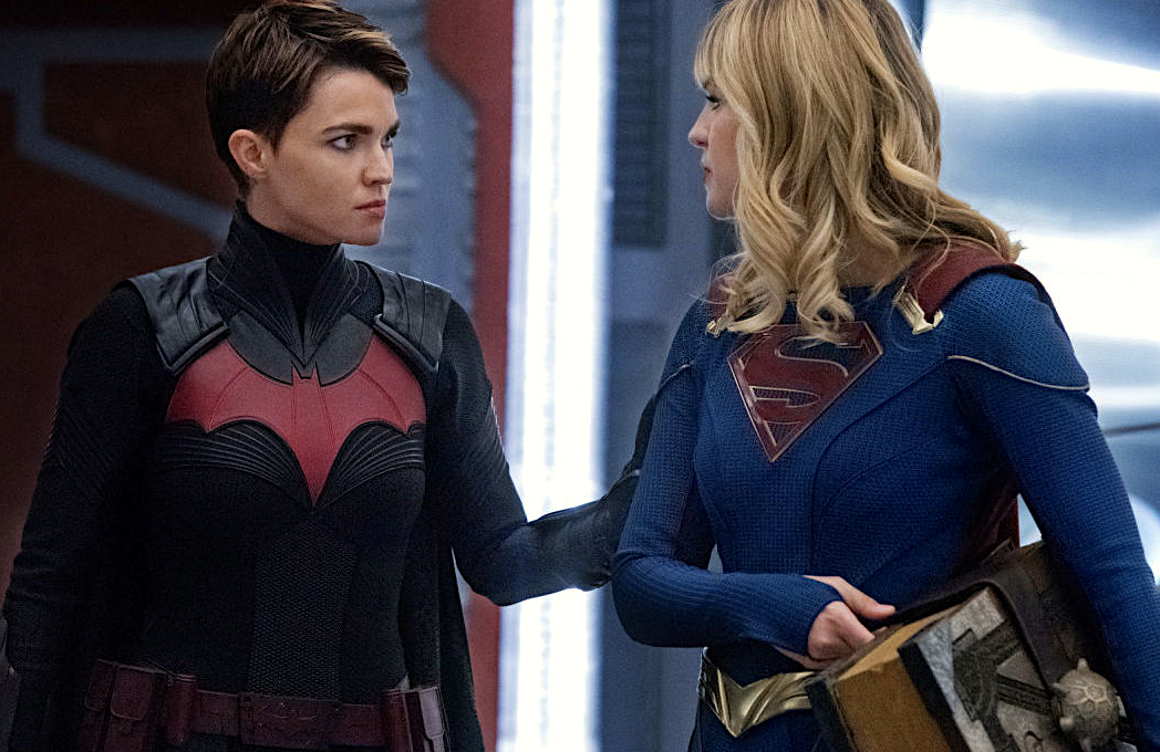 Ruby Rose and Melissa Benoist in night two of Crisis on Infinite Earths on Batwoman. (The CW)