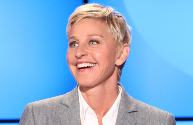 Ellen DeGeneres on the set of her eponymous daytime talk show. (Photo: Telepictures)