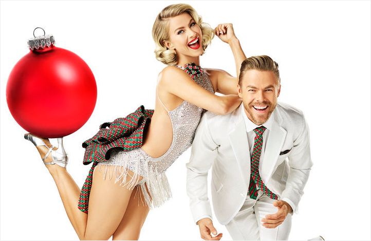 Julianne and Derek Hough star in Holidays with the Houghs. (NBC)