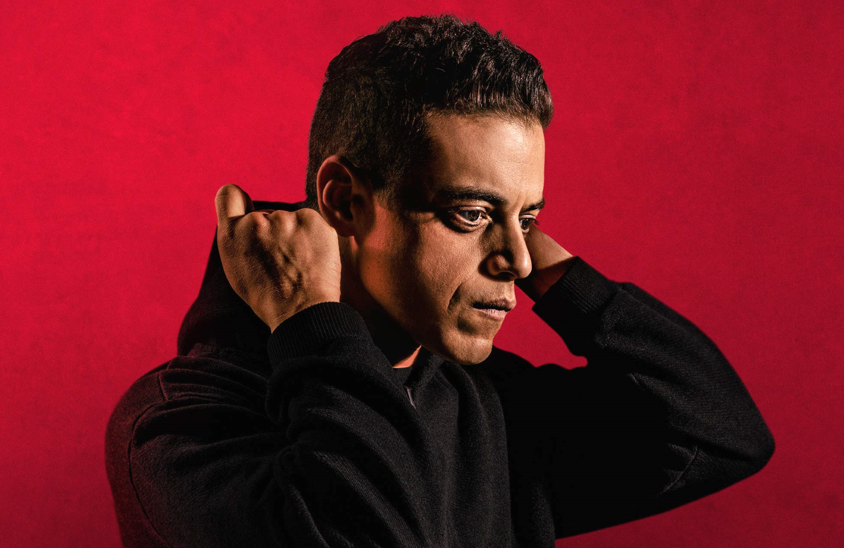 Rami Malek in a promotional image for Mr. Robot's final season. (USA)