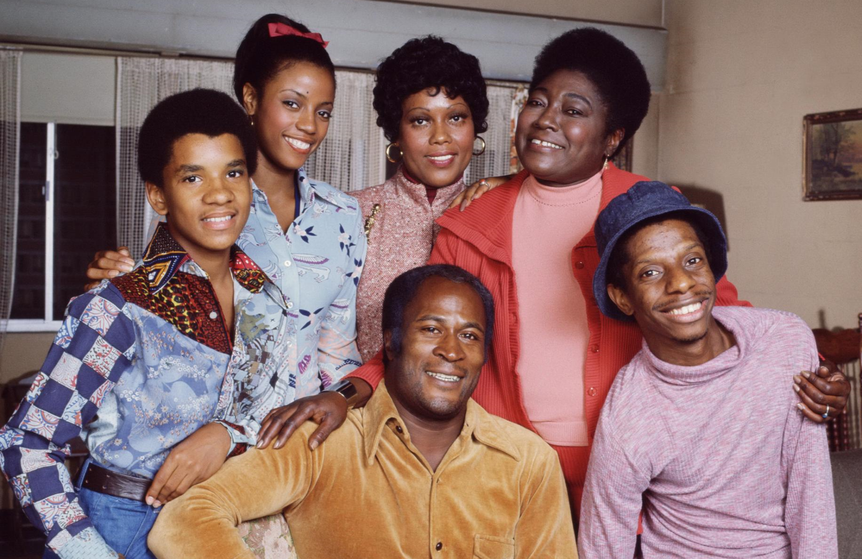 The original cast of Good Times: Ralph Carter, Bern Nadette Stanis, John Amos  Ja'net DuBois, Esther Rolle and Jimmie Walker. (CBS)