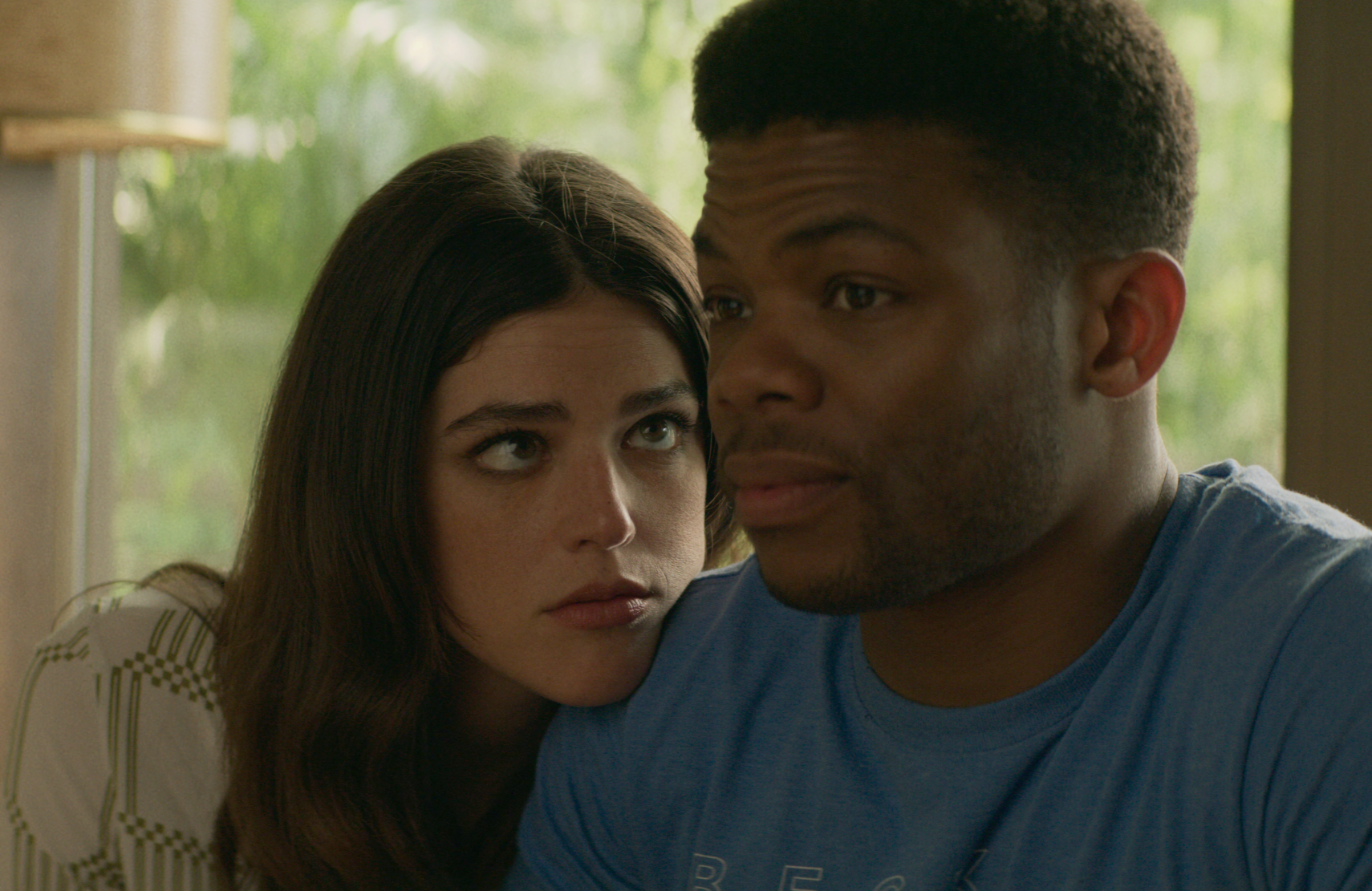 Nellie (Callie Hernandez) wonders what Sam (Paul James) is thinking. Cue the music! (Netflix)