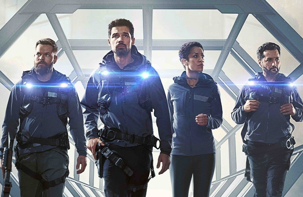 Wes Chatham, Steven Strait, Dominique Tipper and Cas Anvar in a promotional image for  The Expanse Season 4. (Amazon)