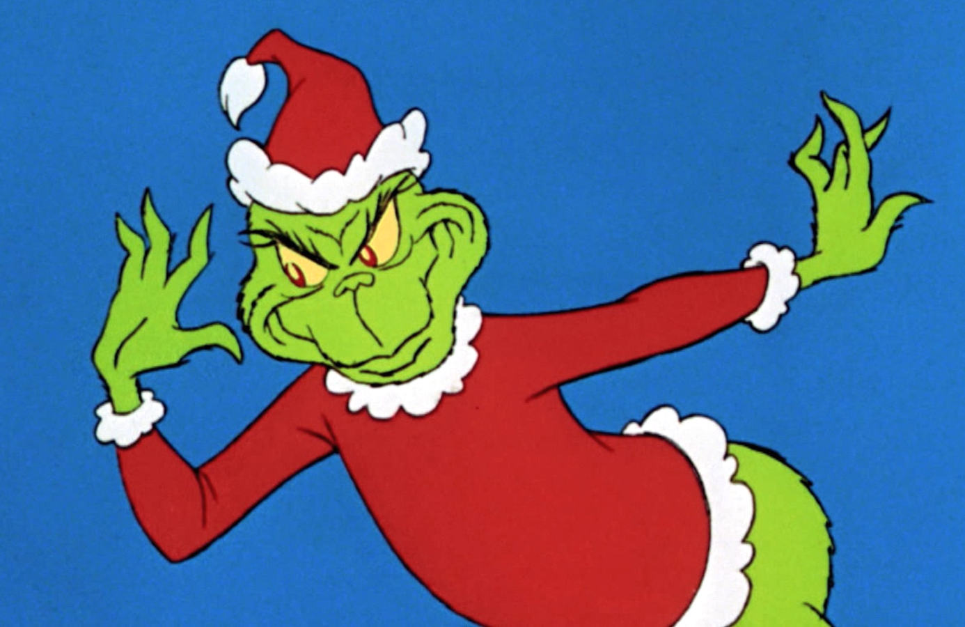 He's a mean one. An image from How the Grinch Stole Christmas. (ABC)