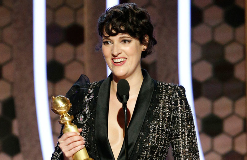 Phoebe Waller-Bridge reigned supreme at last night's Golden Globes. (Photo: Paul Drinkwater/NBC)