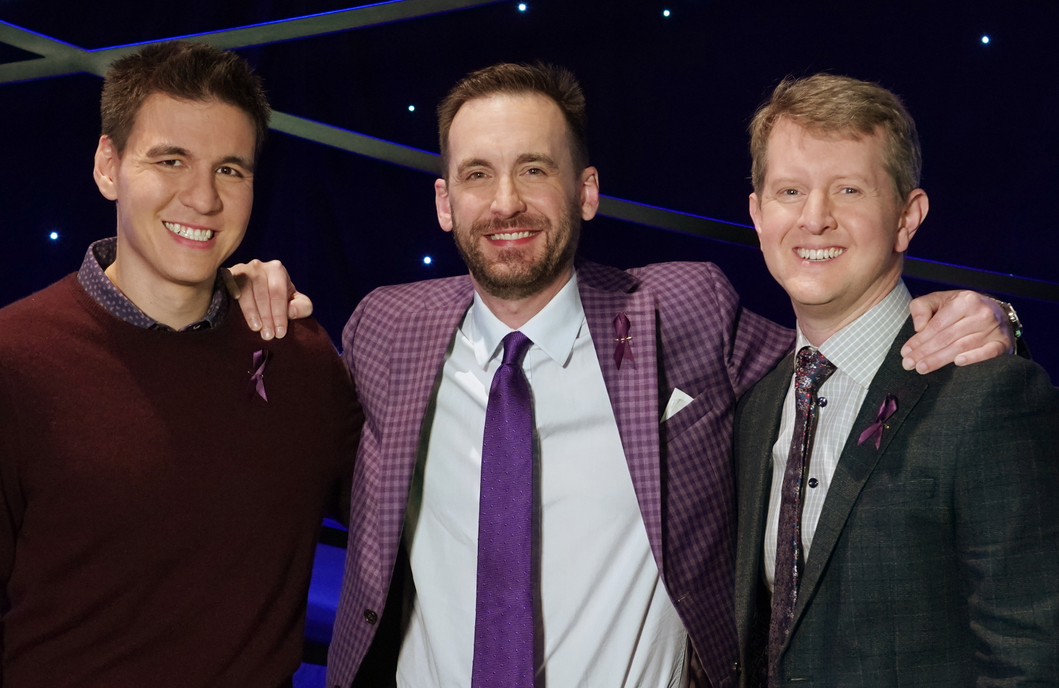 Jeopardy! legends James Holzhauer, Brad Rutter and Ken Jennings will battle it out in this week's three-night primetime event, Jeopardy: Greatest of All Time. (ABC)