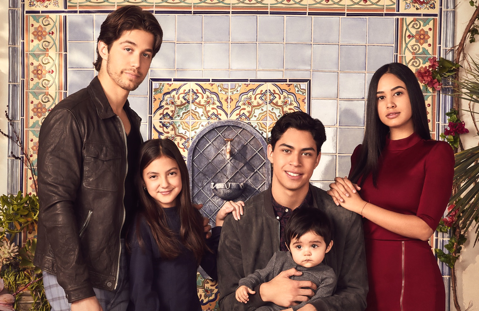 Freeform's Party of Five reboot stars Brandon Larracuente as Emilio Acosta, Elle Paris Legaspi as Valentina Acosta, Niko Guardado as Beto Acosta and Emily Tosta as Lucia Acosta. (Freeform/Nino Munoz)