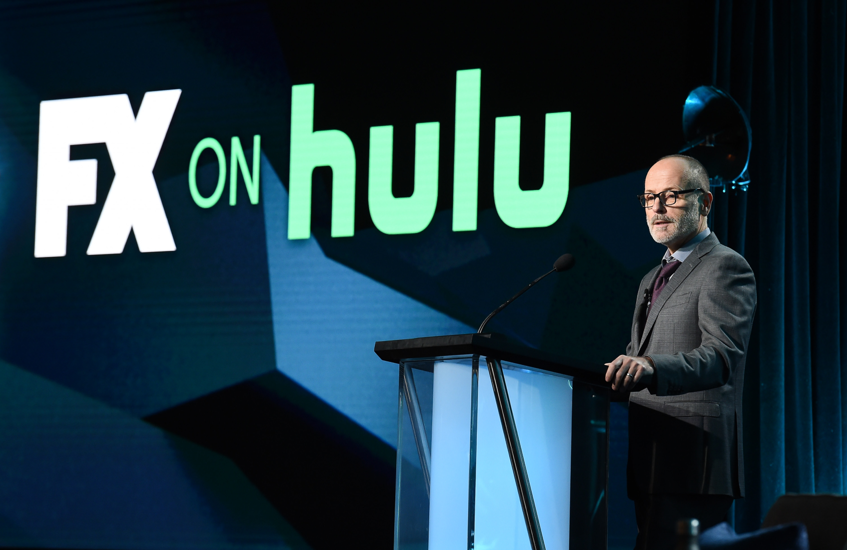 "At the Television Critics Association winter press tour on Thursday, FX chief John Landgraf introduced ""FX on Hulu,"" the new channel-within-a-streaming-service that launches in March. (FX)"