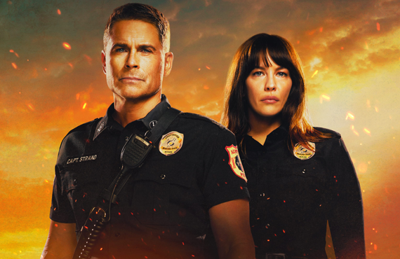 Rob Lowe and Liv Tyler in 9-1-1: Lone Star. (FOX)