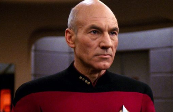 Patrick Stewart in Star Trek: The Next Generation. (CBS)