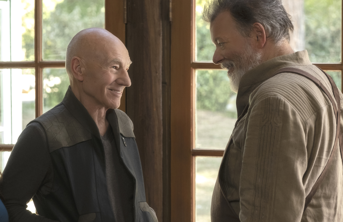 Reunited and it feels so good: Picard (Patrick Stewart) and Riker (Jonathan Frakes) in Star Trek: Picard. (CBS All Access)