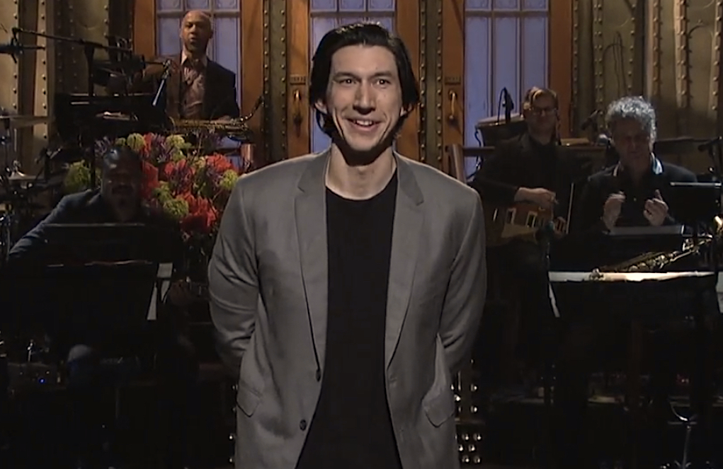 Adam Driver hosts Saturday Night Live. (NBC)