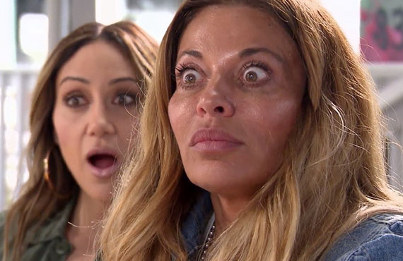 Melissa Gorga and Dolores Catania in RHONJ. (Bravo)