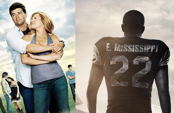 Kyle Chandler and Connie Britton in Friday Night Lights and Last Chance U. (Photos: NBC, Netflix)