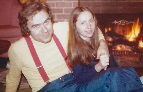 Ted Bundy with his then-girlfriend Elizabeth Kendall in an image from The five-part series Ted Bundy: Falling For A Killer. (Photo: Amazon)