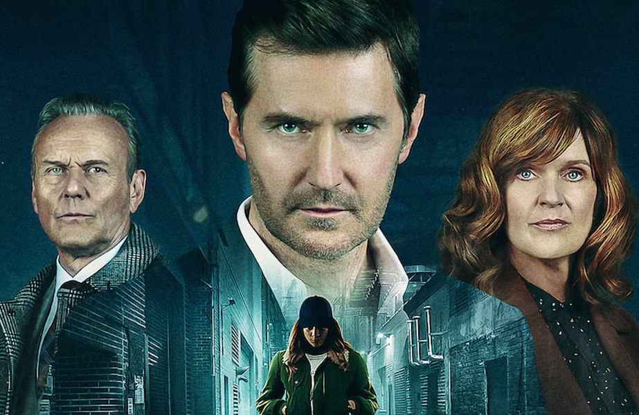 Anthony Head, Richard Armitage, Siobhan Finneran and Hannah John-Kamen in a promotional image for The Stranger. (Netflix)