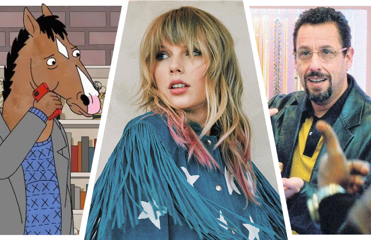 Bojack Horseman, Taylor Swift: Miss Americana and Uncut Gems are among the new releases hitting Netflix today.