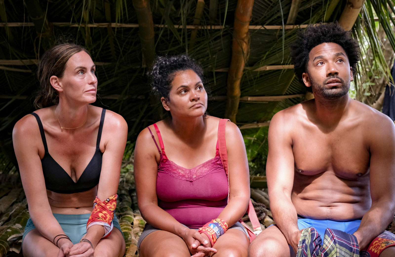 Kim Spradlin, Sandra Diaz-Twine, and Wendell Holland in Survivor: Winners at War (Photo: Timothy Kuratek/CBS)