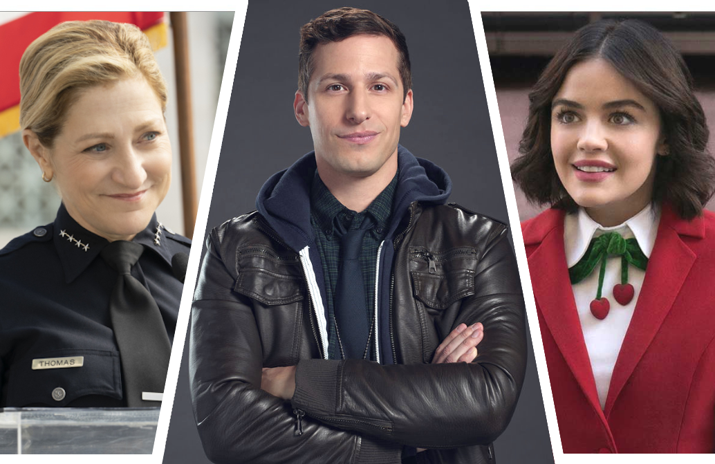 It's a night of big premieres as Tommy and Katy Keene make their series debuts, and Brooklyn Nine-Nine returns for its seventh season. (Photos: CBS/NBC/The CW)