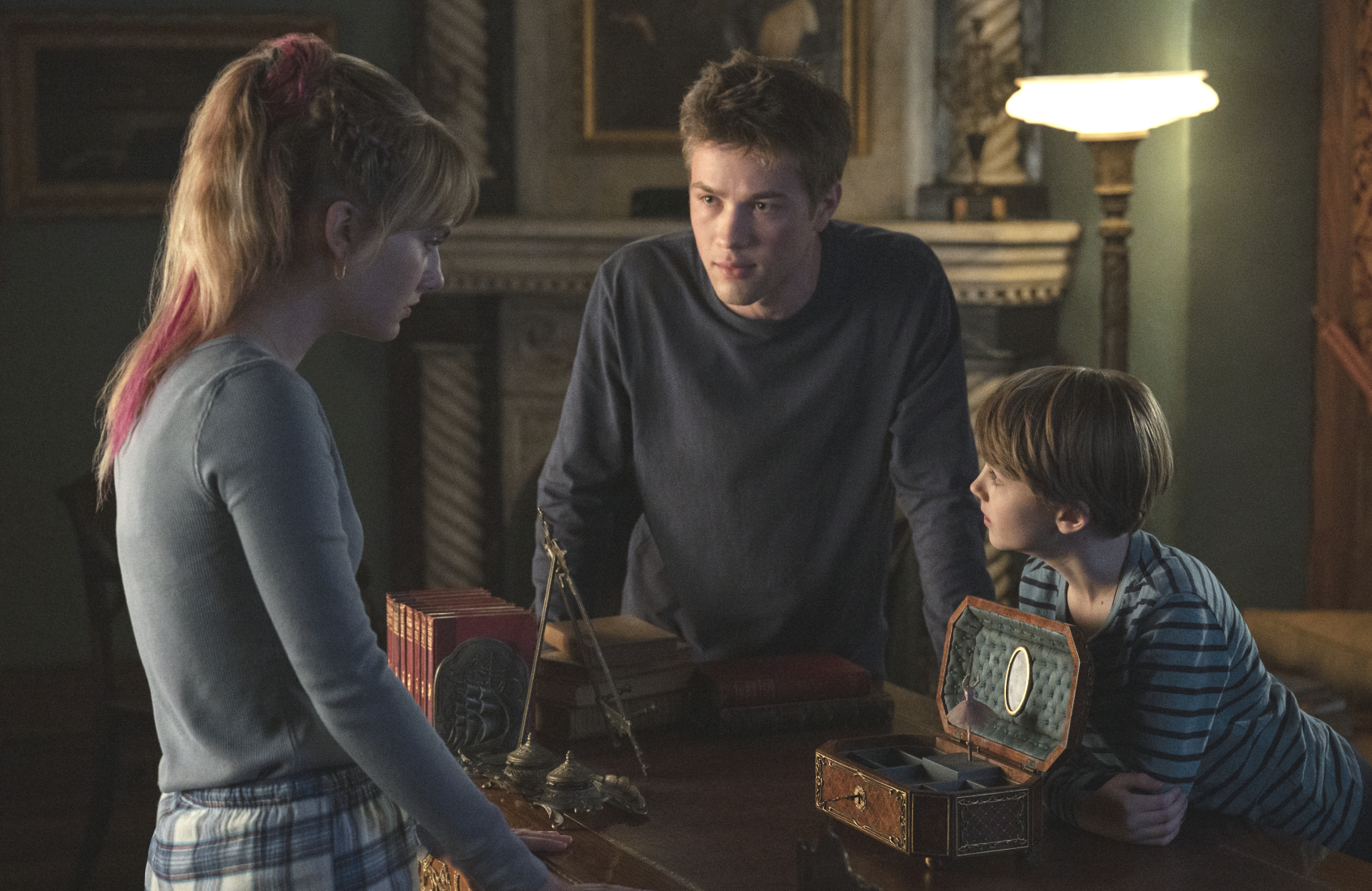 Emilia Jones, Connor Jessup and Jackson Robert Scott in an image from Locke & Key. (Photo: Christos Kalohoridis/Netflix)