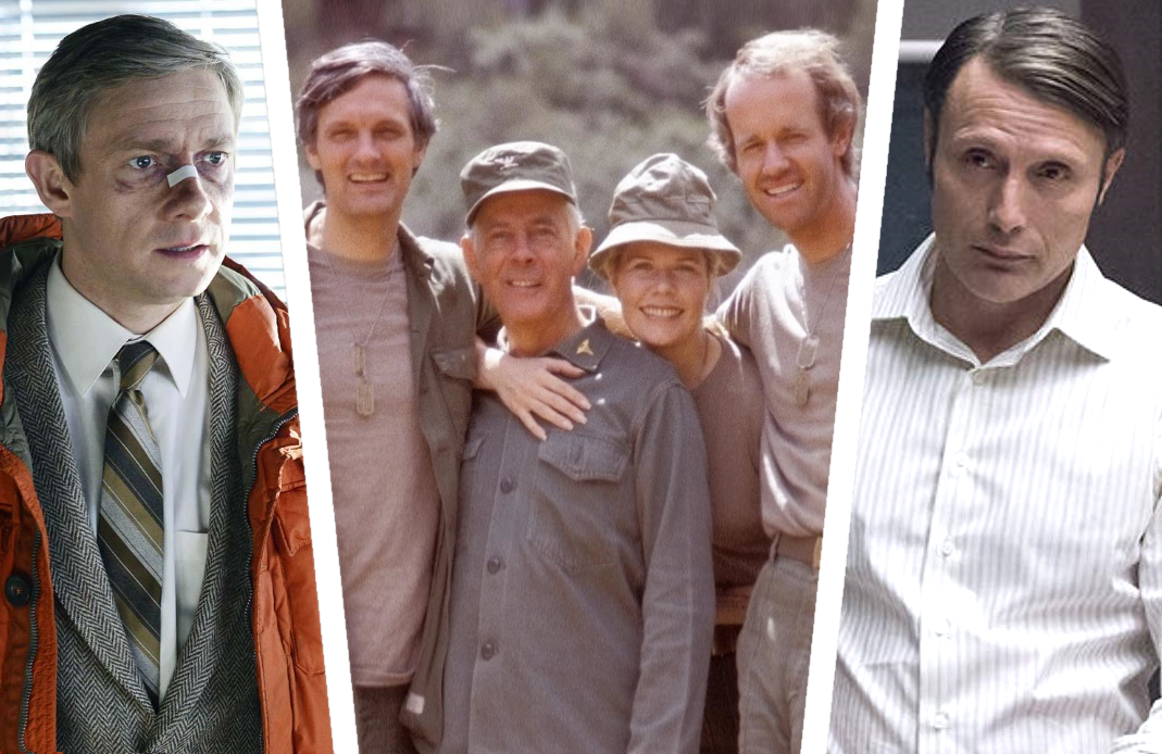 Fargo, M*A*S*H and Hannibal made the list. (Photos: FX, CBS, NBC)