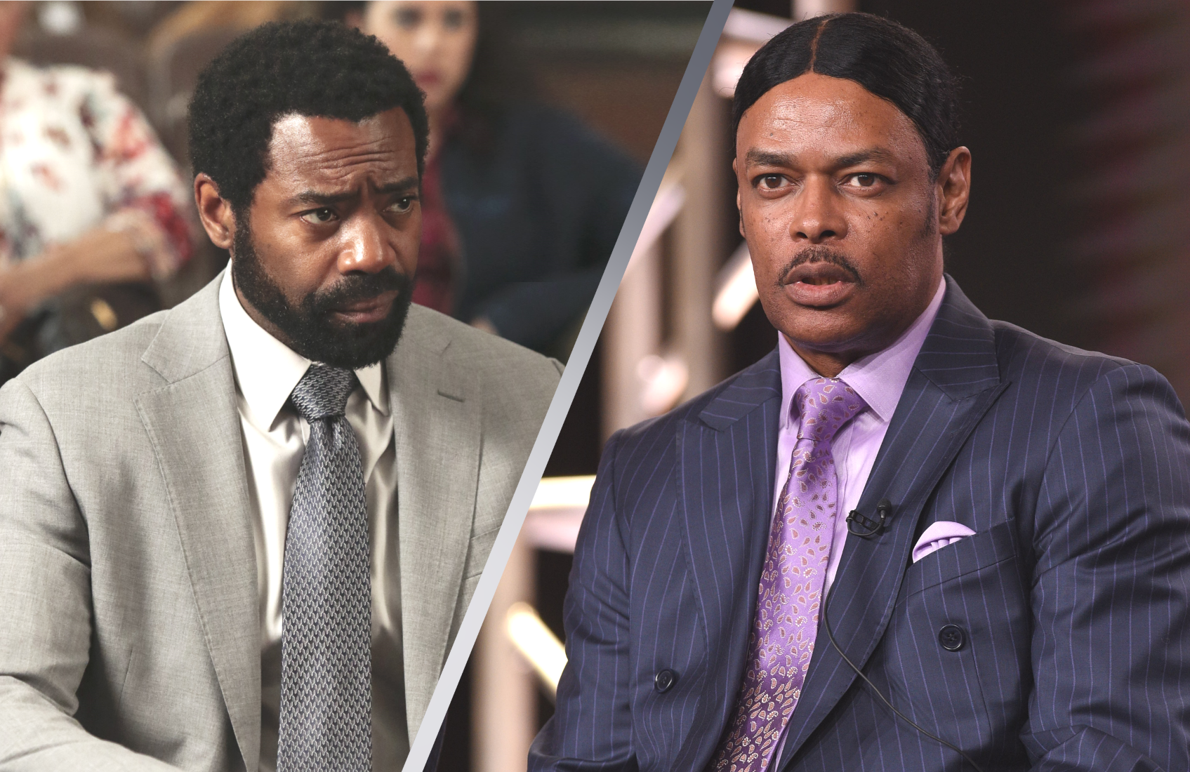 For Life's Nicholas Pinnock (left) plays a character loosely based on the life story of Isaac Wright Jr. (right). (Photos:ABC)