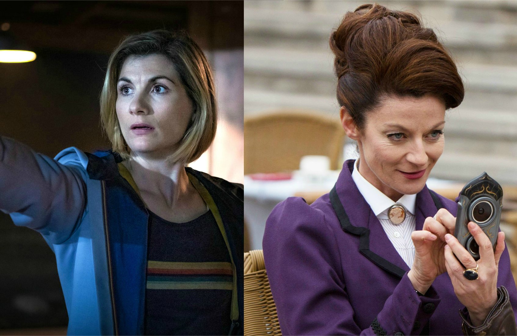 Jodie Whittaker and Michelle Gomez in Doctor Who. (Photos: BBC America)