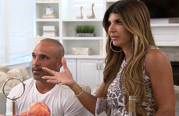 Joe Gorga and Teresa Giudice in RHONJ. (Bravo)