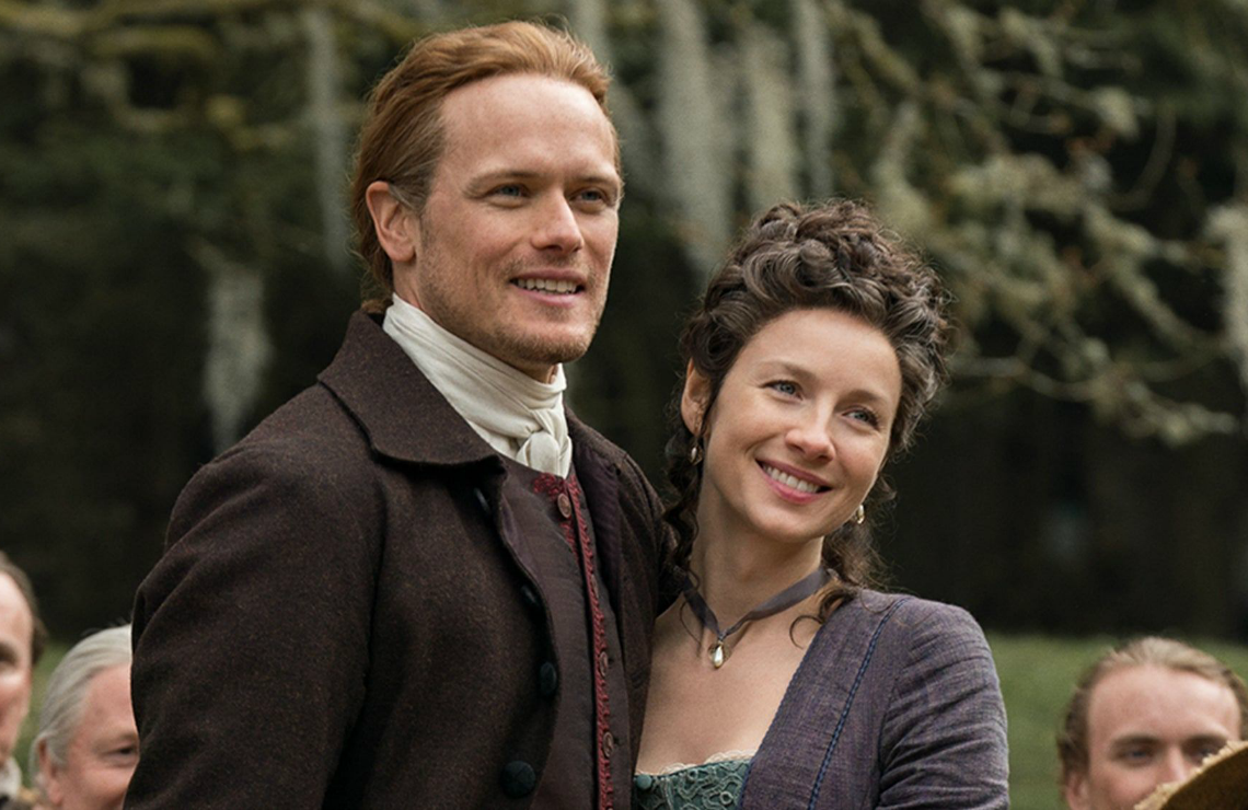 Sam Heughan and Caitriona Balfe in Outlander. (Photo: Starz)