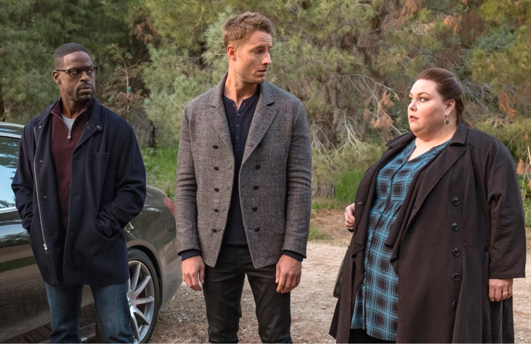 Sterling K. Brown, Justin Hartley and Chrissy Metz in This is Us. (NBC)