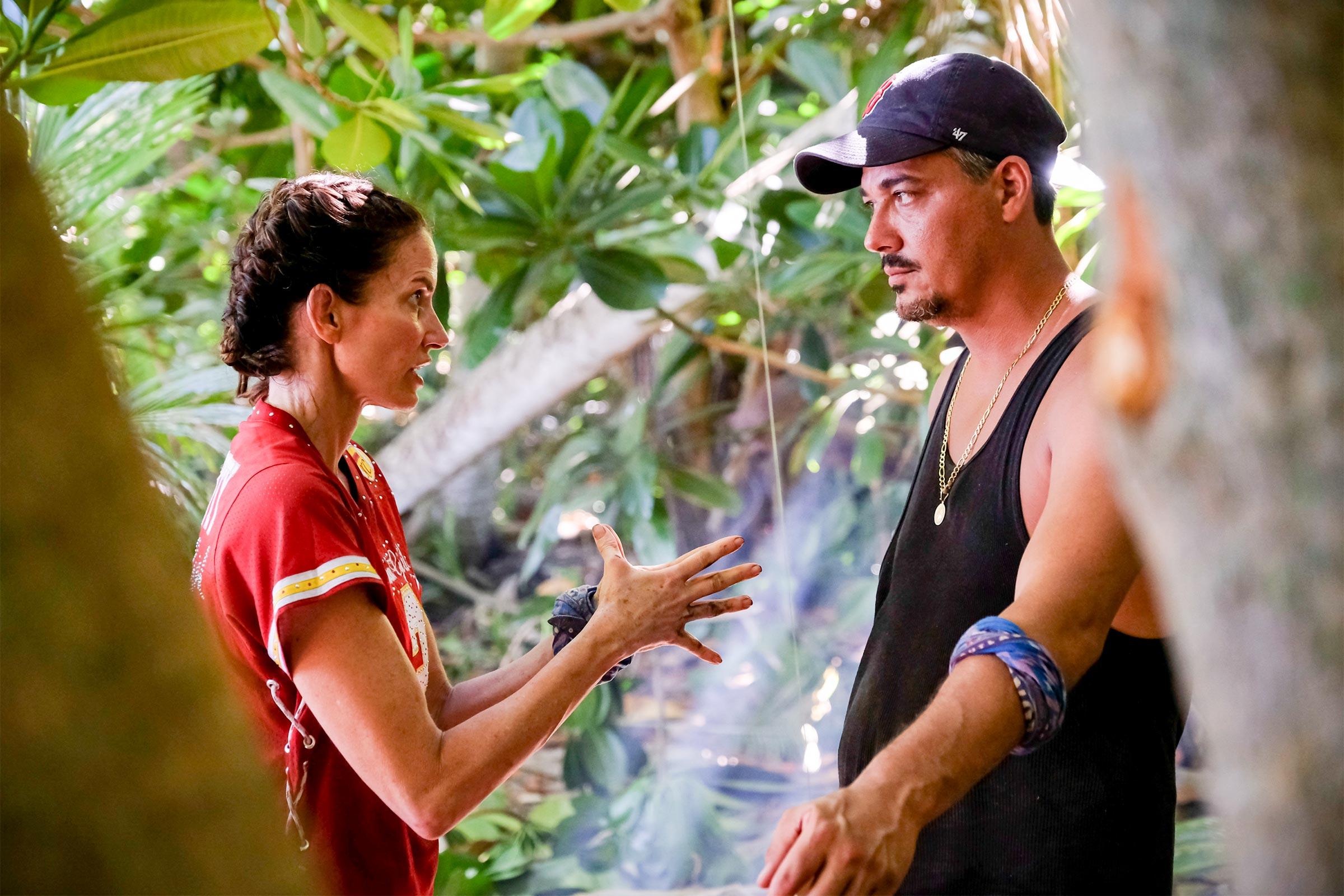 Danni Boatwright and Rob Mariano on Survivor. (CBS)